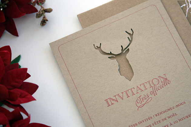 Invitation cerf