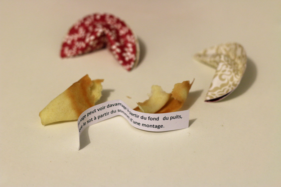 Fortune cookies, 2 versions : vrai gâteau ou papier !