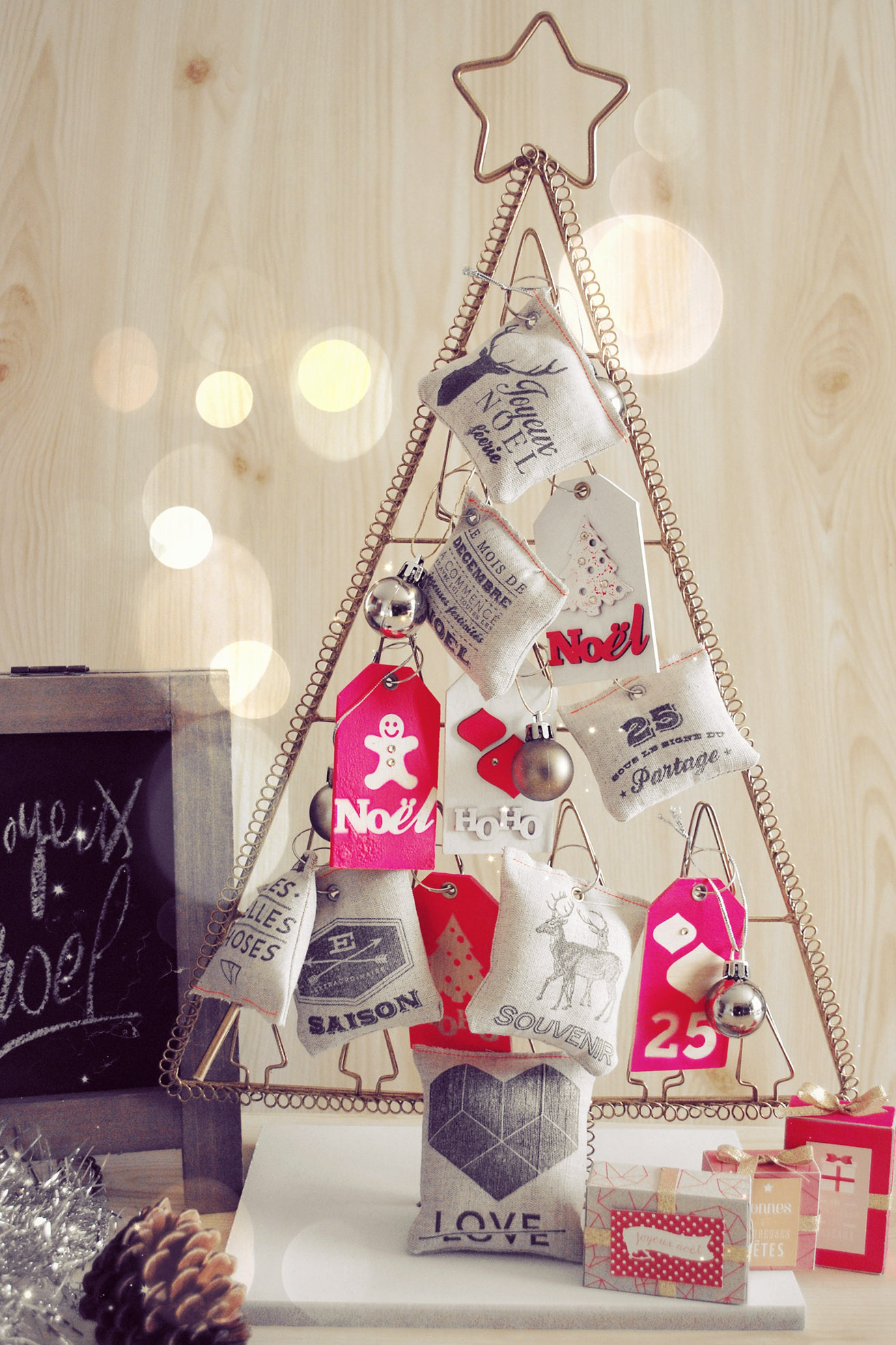 8 d cembre pour un sapin original kesi 39 art le blog for Decoration lumignon 8 decembre