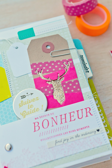 Carnet Inspiration DIY page fluo