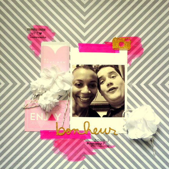 scrapbooking page-pompon