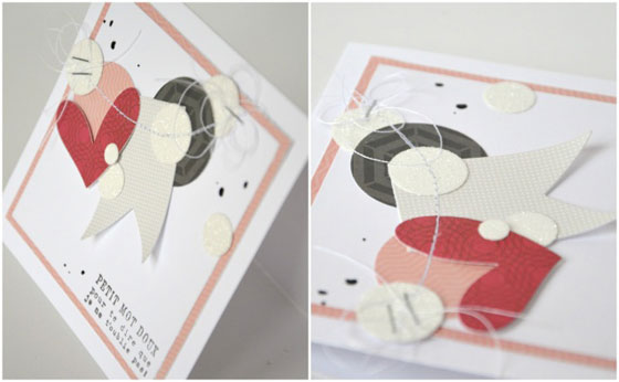 DIY carte saint valentin scrap