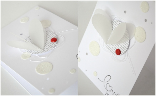 carte saint valentin clean scrapbooking