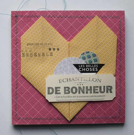 Mini album origami coeur