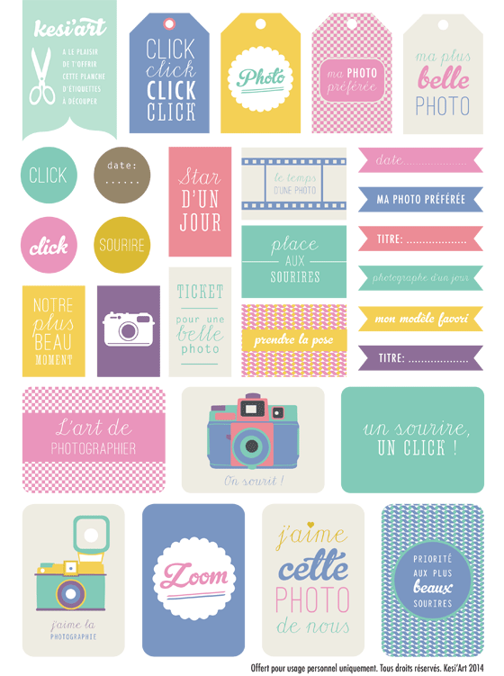 printable etiquettes imprimer photo