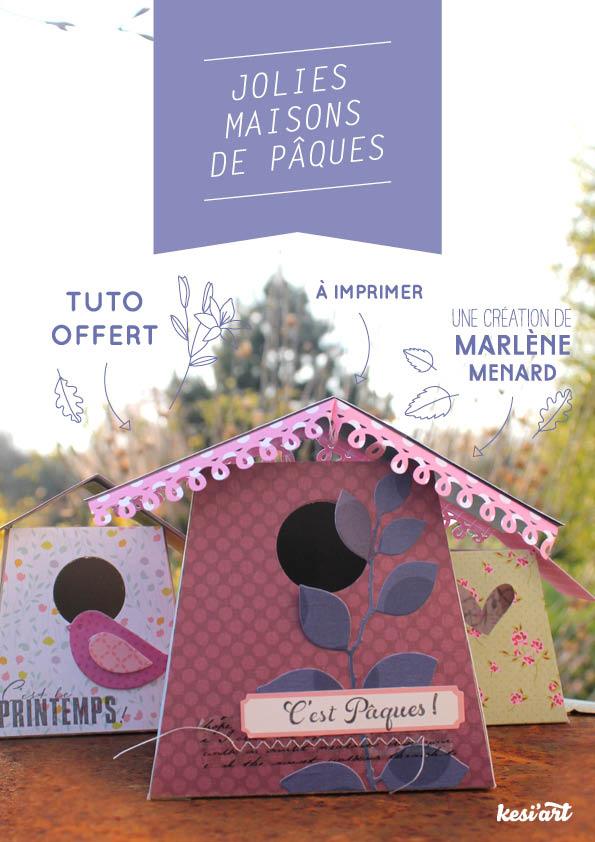 Tuto-DIY pour Paques : maison pour oiseaux en papier pour les chocolats