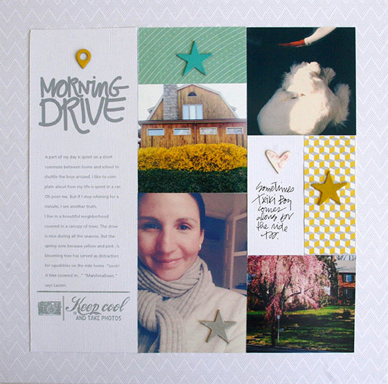 Page de Denise - freebie combo sketch scrapbooking
