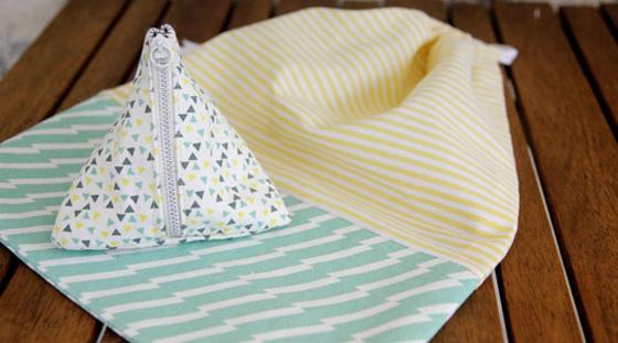 Couture : des pochettes en tissu canvas