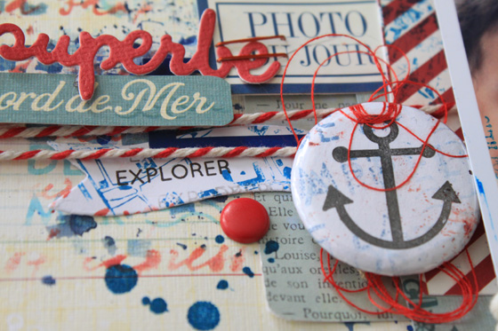 Page scrapbooking theme maritime Flore