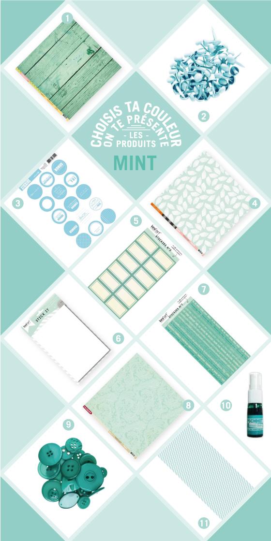 Sélection de produits Kesi'art couleur mint - menthe à l'eau