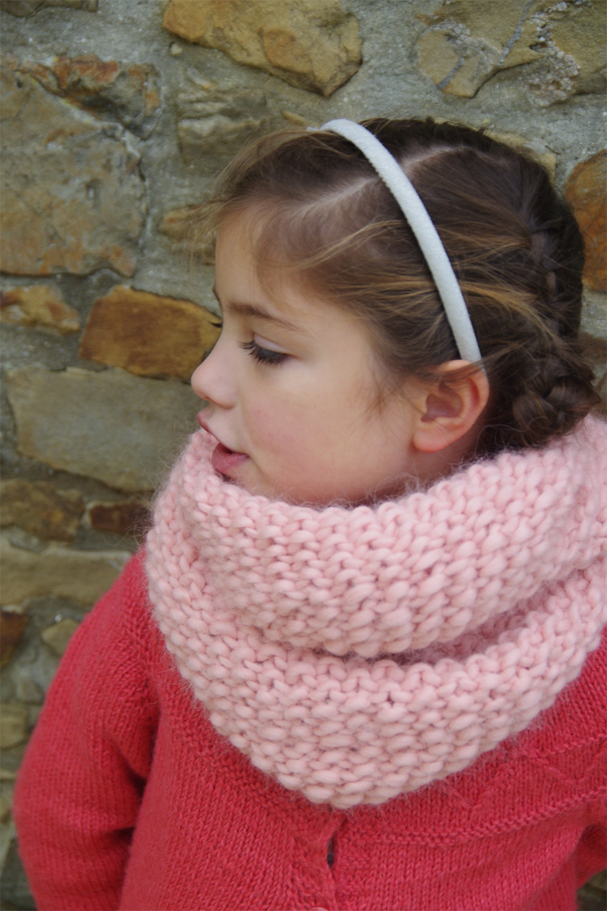 snood Peche Melba version enfant Maille name is Georgette MNAlliot-4