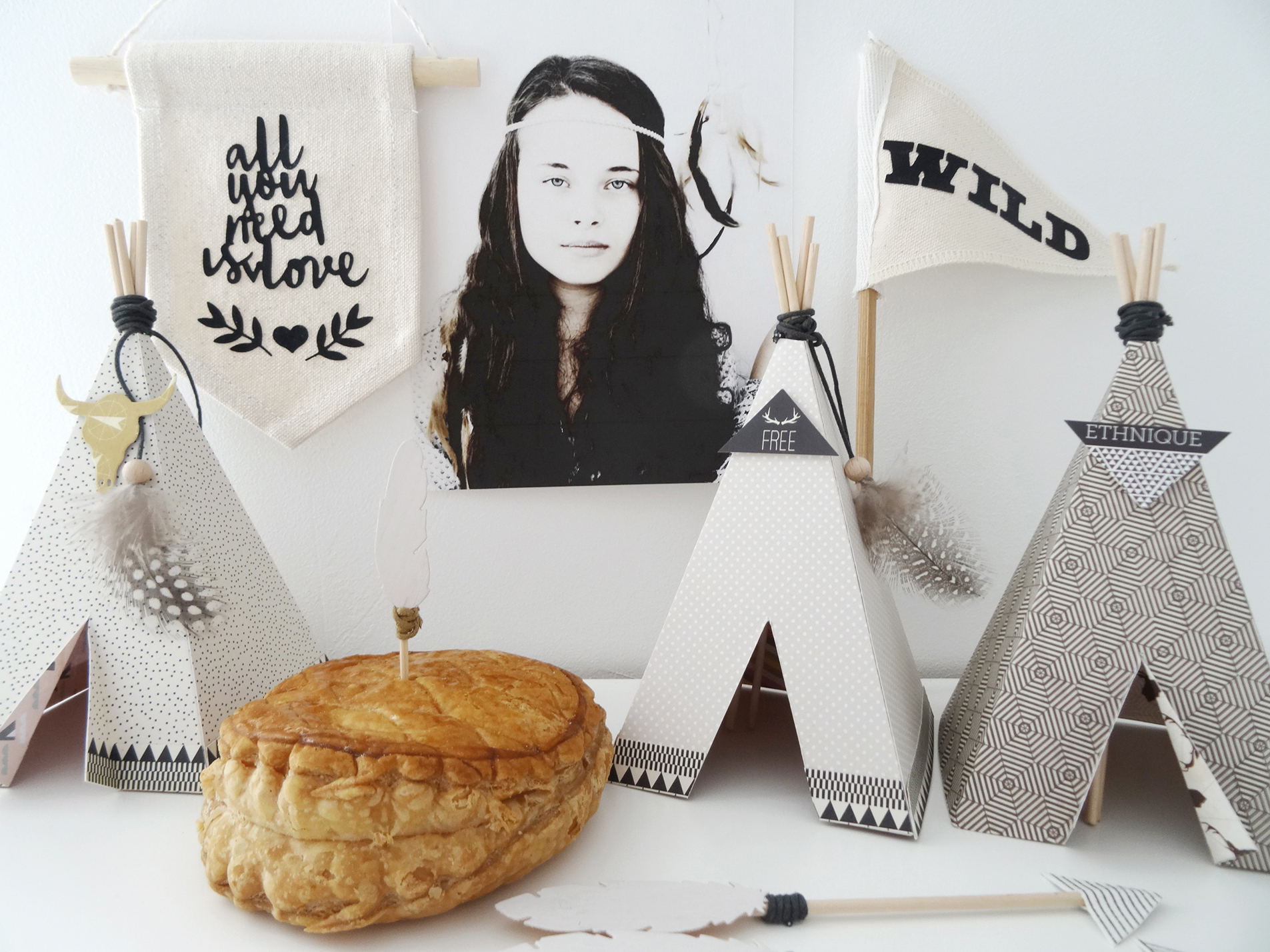 Des tipis pour l piphanie kesi 39 art le blog for Decoration epiphanie