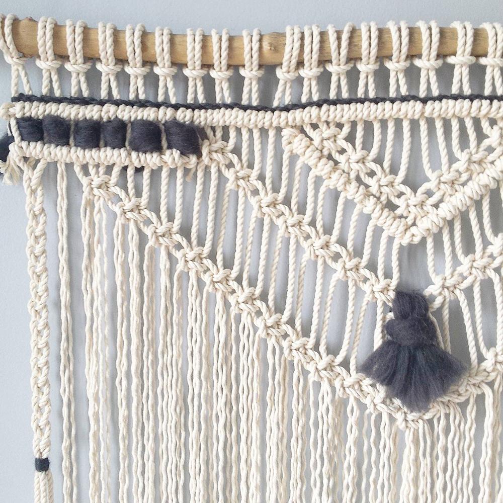 petite biche rose tenture en macram kesi 39 art le blog. Black Bedroom Furniture Sets. Home Design Ideas