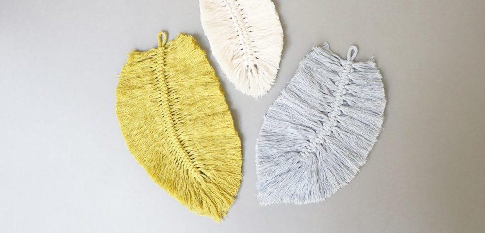 Tutoriel Kesi'Art pour des plumes macramé déco