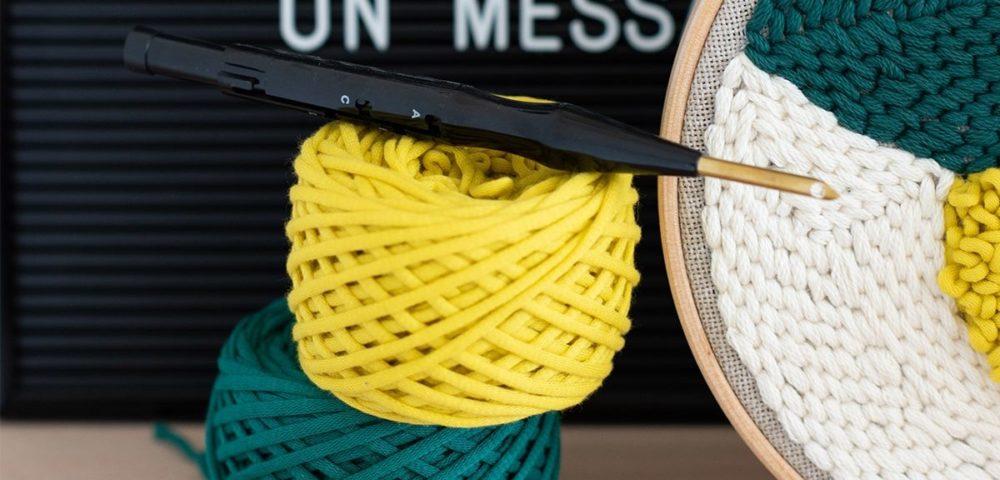 Réaliser un tableautin au punch needle avec le tutoriel Kesi'Art
