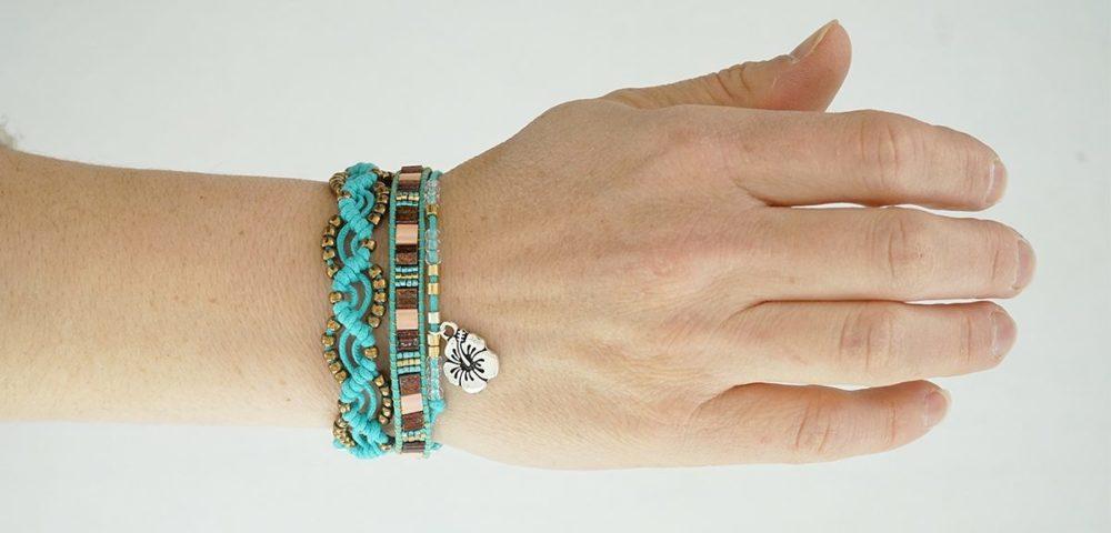 Tutoriel bijoux pour réaliser un bracelet en macramé avec Kesi'Art