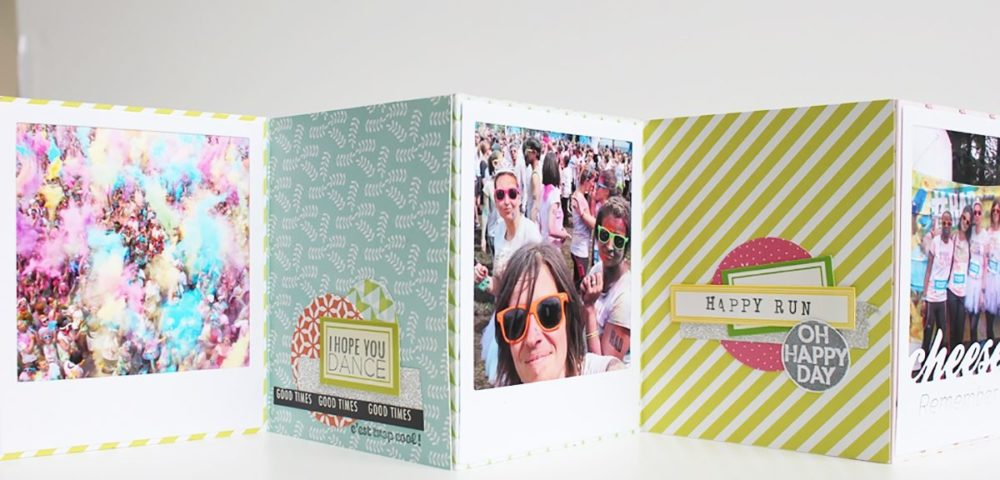 Tutoriel Kesi'Art pour scrapper un mini album polaroid